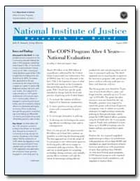 The Cops Program after 4 Years— National... by Roth, Jeffrey A.
