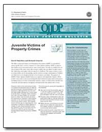 Juvenile Victims of Property Crimes by Finkelhor, David
