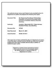 Federal Funds Provided by the U. S. Depa... by Mastrofski, Jennifer Adams