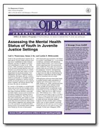 Assessing the Mental Health Status of Yo... by Government Printing Office