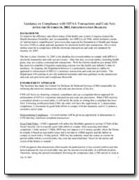Guidance on Compliance with Hipaa Transa... by Government Printing Office