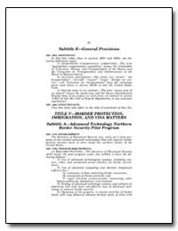 Subtitle E—General Provisions by Government Printing Office