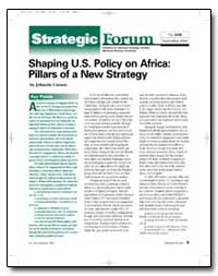 Shaping U.S. Policy on Africa : Pillars ... by Carson, Johnnie