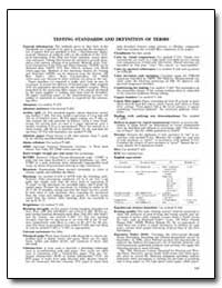 Testing Standards and Definition of Term... by Government Printing Office