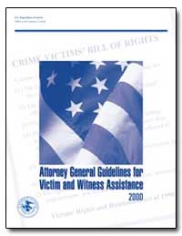 Attorney General Guidelines for Victim a... by Government Printing Office
