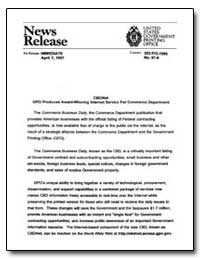 News Release by Government Printing Office
