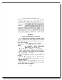 Rules of the House of Representatives by Government Printing Office