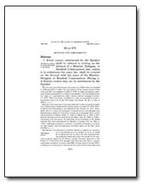 Rule XVI Motions and Amendments by Government Printing Office