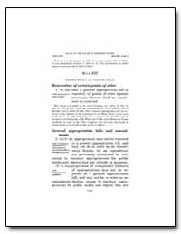 Rule Xxi Restrictions on Certain Bills R... by Government Printing Office
