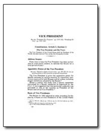 Vice President by Government Printing Office