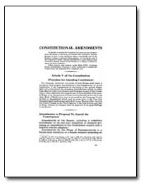 Constitutional Amendments by Government Printing Office