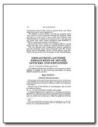 Employment-Outside Employment of Senate ... by Government Printing Office
