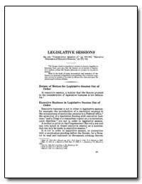Legislative Sessions by Government Printing Office