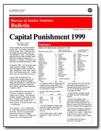 Capital Punishment 1999 by Snell, Tracy L.