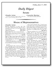 Daily Digest Senate by Government Printing Office