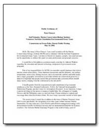 Public Testimony of : Peter Etnoyer Staf... by Government Printing Office
