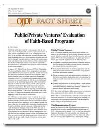 Public/Private Ventures' Evaluation of F... by Ericson, Nels