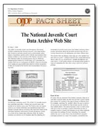 The National Juvenile Court Data Archive... by Stahl, Anne L.