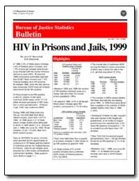Hiv in Prisons and Jails, 1999 by Maruschak, Laura M.