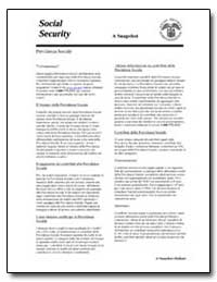 Social Security by Government Printing Office