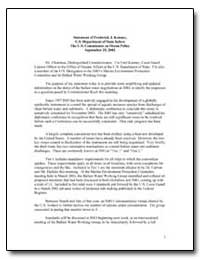 Statement of Frederick J. Kenney, U.S. D... by Government Printing Office