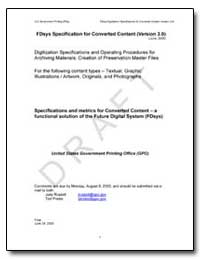 Fdsys Specification for Converted Conten... by Government Printing Office
