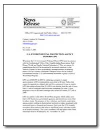 U.S. Environmental Protection Agency Hon... by Government Printing Office