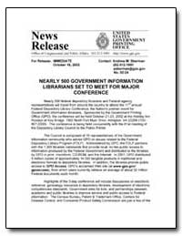 Nearly 500 Government Information Librar... by Government Printing Office
