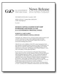 Human Capital Leader to Revamp Workforce... by Government Printing Office