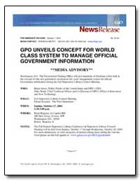 Gpo Unveils Concept for World Class Syst... by Government Printing Office