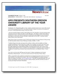 Gpo Presents Southern Oregon University ... by Government Printing Office