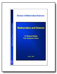 Division of Mathematical Sciences by Wright, Dr. Margaret