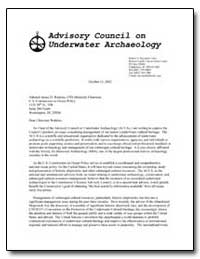 Advisory Council on Underwater Archaeolo... by Government Printing Office