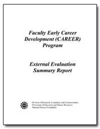 Faculty Early Career Development (Career... by Millsap, Mary Ann