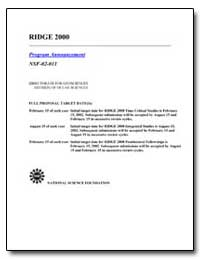 Ridge 2000 by Government Printing Office
