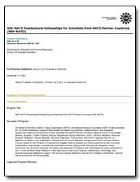 Nsf-Nato Postdoctoral Fellowships for Sc... by Government Printing Office