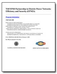 Nsf/Onr Partnership in Electric Power Ne... by Government Printing Office