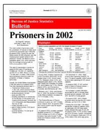 Prisoners in 2002 by Harrison, Paige M.