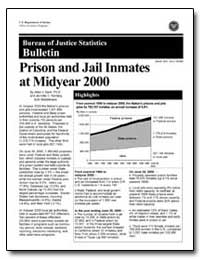 Bureau of Justice Statistics Bulletin : ... by Beck, Allen J.