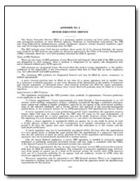Appendix No. 2 : Senior Executive Servic... by Government Printing Office
