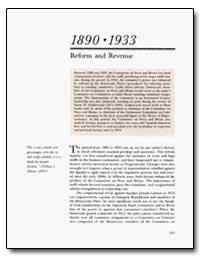 1890 to 1933 Reform and Revenue by Wilson, William L.