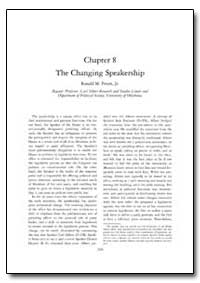 The Changing Speakership : Chapter 8 by Peters, Ronald M., Jr.