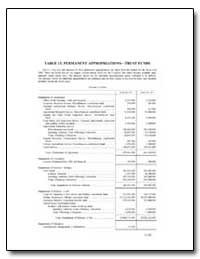 Table 13 Permanent Appropriations—Trust ... by Government Printing Office