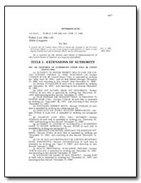 Veterans Acts by Government Printing Office