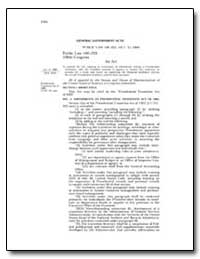 General Government Acts by Government Printing Office