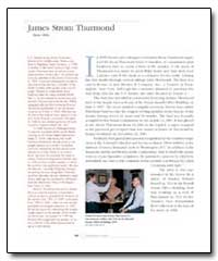 James Strom Thurmond by Government Printing Office