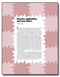 Resumes, Applications, And Cover Letters by Government Printing Office