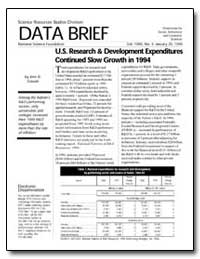 Data Brief U. S. Research and Developmen... by Gawalt, John R.