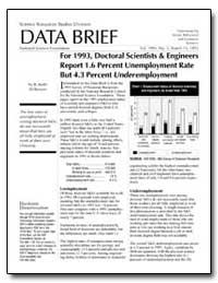 Data Brief for 1993, Doctoral Scientists... by Wilkinson, R. Keith