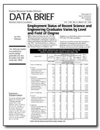 Data Brief Employment Status of Recent S... by Tsapogas, John